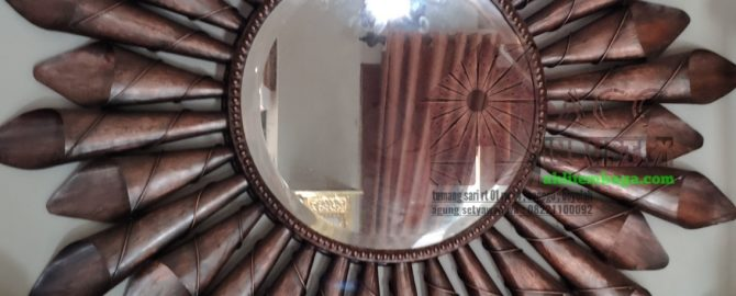 cermin tembaga kuningan